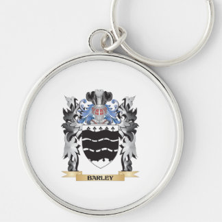 Escudo de armas de la cebada - escudo de la llavero redondo plateado