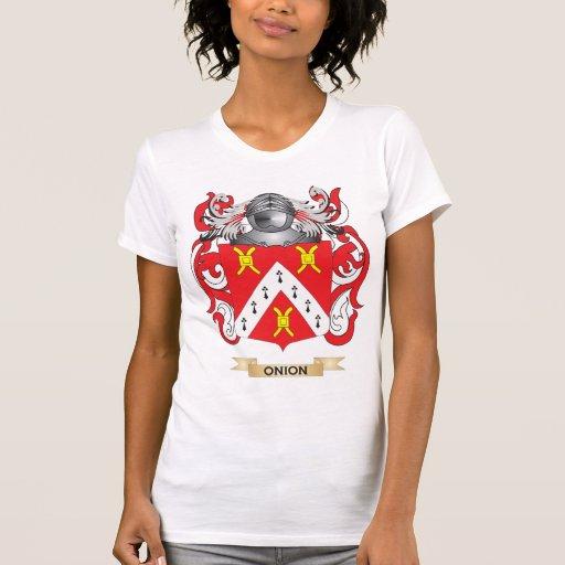 Escudo de armas de la cebolla (escudo de la famili camisetas
