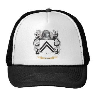 Escudo de armas de la ceniza (escudo de la familia gorras de camionero