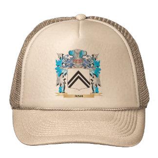 Escudo de armas de la ceniza gorras