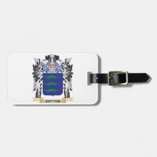 Escudo de armas de la chaveta - escudo de la etiquetas de maletas