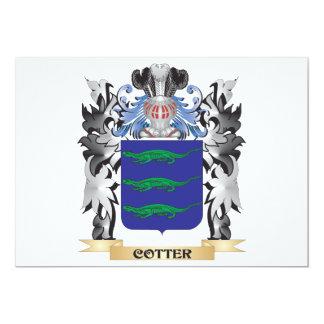 """Escudo de armas de la chaveta - escudo de la invitación 5"""" x 7"""""""