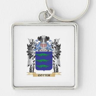 Escudo de armas de la chaveta - escudo de la llavero cuadrado plateado