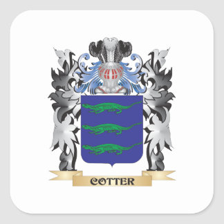Escudo de armas de la chaveta - escudo de la pegatina cuadrada