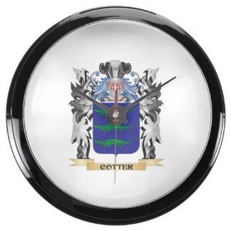 Escudo de armas de la chaveta - escudo de la relojes aqua clock