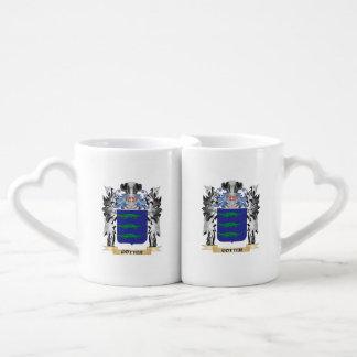 Escudo de armas de la chaveta - escudo de la tazas para parejas
