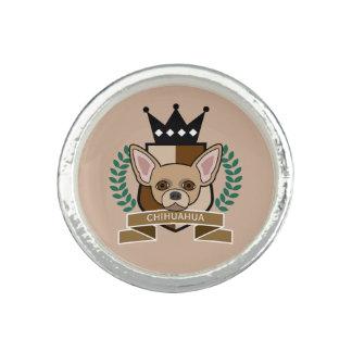 Escudo de armas de la chihuahua anillos con foto