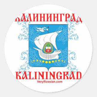 Escudo de armas de la ciudad de Kaliningrado Pegatina Redonda