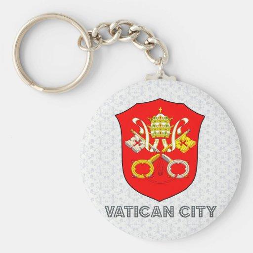Escudo de armas de la Ciudad del Vaticano Llaveros Personalizados