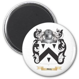 Escudo de armas de la clavija escudo de la famili imán para frigorífico