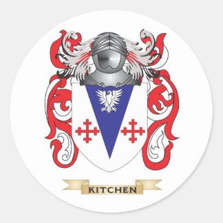 Escudo de armas de la cocina (escudo de la pegatina redonda