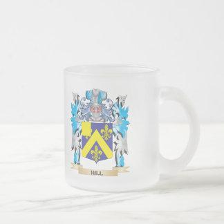 Escudo de armas de la colina - escudo de la taza cristal mate