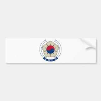 Escudo de armas de la Corea del Sur Pegatina De Parachoque