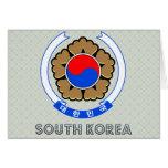 Escudo de armas de la Corea del Sur Felicitación