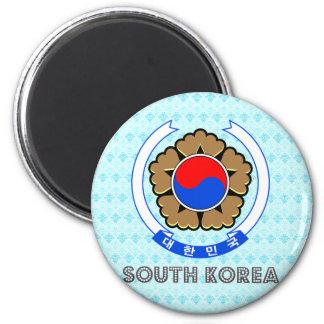 Escudo de armas de la Corea del Sur Imanes Para Frigoríficos