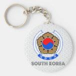 Escudo de armas de la Corea del Sur Llavero Personalizado