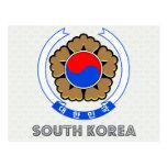 Escudo de armas de la Corea del Sur Tarjeta Postal