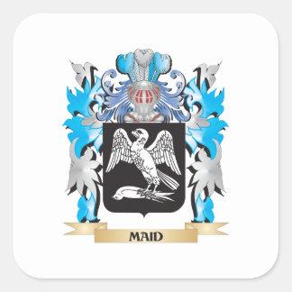 Escudo de armas de la criada - escudo de la colcomanias cuadradass