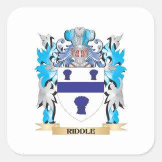 Escudo de armas de la criba - escudo de la familia calcomanías cuadradases