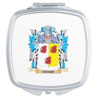Escudo de armas de la danza - escudo de la familia espejos de maquillaje