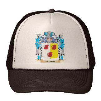 Escudo de armas de la danza - escudo de la familia gorras