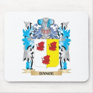 Escudo de armas de la danza - escudo de la familia alfombrilla de ratón