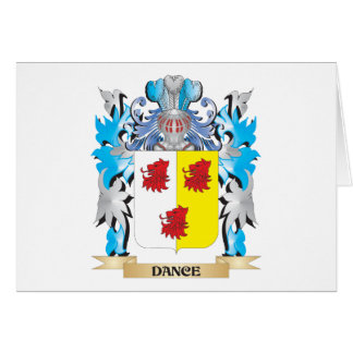 Escudo de armas de la danza - escudo de la familia tarjeta pequeña