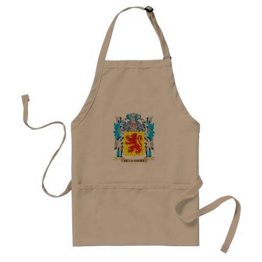 Escudo de armas de la De-La-Corte - escudo de la f Delantales