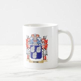 Escudo de armas de la dina - escudo de la familia taza de café