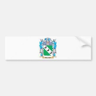 Escudo de armas de la enfermedad - escudo de la pegatina de parachoque