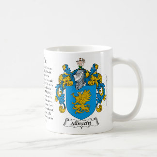 Escudo de armas de la familia de Albrecht (escudo) Taza Básica Blanca