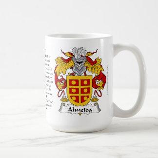 Escudo de armas de la familia de Almeida Taza De Café