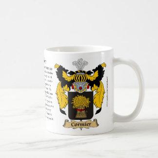 Escudo de armas de la familia de Cormier Tazas De Café