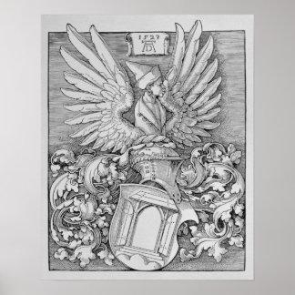 Escudo de armas de la familia de Durer Poster