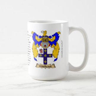 Escudo de armas de la familia de Hitchcock Tazas De Café