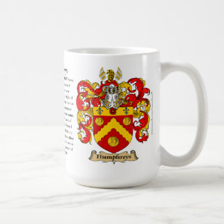 Escudo de armas de la familia de Humphreys Taza De Café