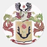 Escudo de armas de la familia de Kittinger (escudo Pegatina Redonda
