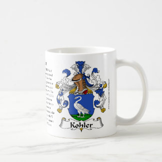 Escudo de armas de la familia de Kohler Taza Clásica