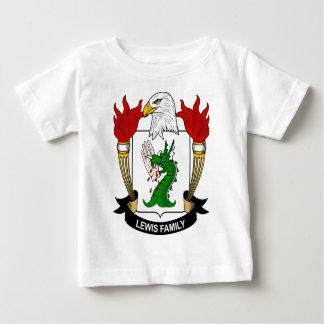 Escudo de armas de la familia de Lewis Playera Para Bebé
