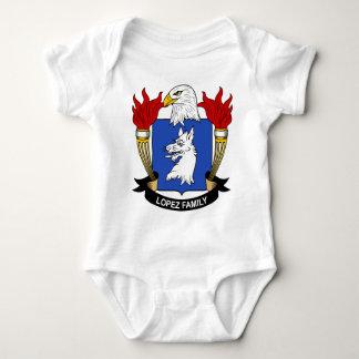 Escudo de armas de la familia de López Body Para Bebé