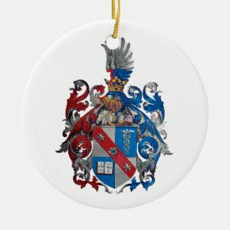 Escudo de armas de la familia de Ludwig von Mises Adorno Navideño Redondo De Cerámica