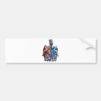 Escudo de armas de la familia de Ludwig von Mises Etiqueta De Parachoque