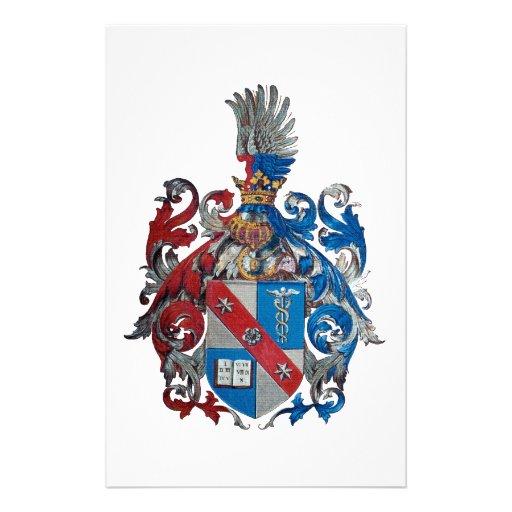 Escudo de armas de la familia de Ludwig von Mises Papelería Personalizada