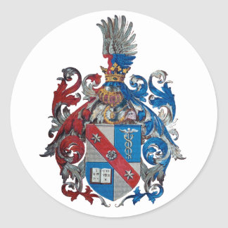 Escudo de armas de la familia de Ludwig von Mises Pegatina Redonda