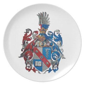 Escudo de armas de la familia de Ludwig von Mises Platos De Comidas
