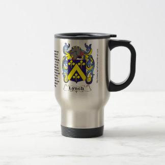 Escudo de armas de la familia de Lynch en una taza