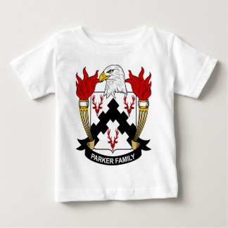 Escudo de armas de la familia de Parker Playera De Bebé