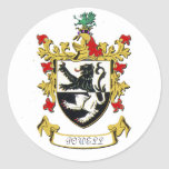 Escudo de armas de la familia de Powell Pegatinas Redondas