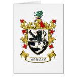 Escudo de armas de la familia de Powell Felicitacion