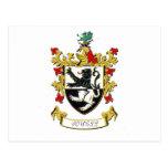 Escudo de armas de la familia de Powell Tarjeta Postal